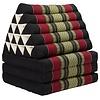 Fine Asianliving Fine Asianliving Thai Mattress Triangle Cushion Headrest 3-Fold Meditation Mat Jumbo Lounge Kapok XL Red