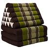 Fine Asianliving Fine Asianliving Thai Mattress Triangle Cushion Headrest 3-Fold Meditation Mat Jumbo Lounge Kapok XL Green