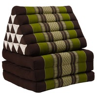 Thaikissen Dreieckskissen 3 Auflagen Kapokfüllung XL Grün