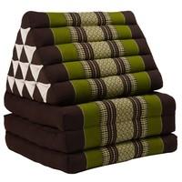 Thais Kussen Meditatie Driehoek Vloer Ligmat Yoga Uitklapbaar Kapok Groen XL