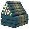 Fine Asianliving Fine Asianliving Thai Kissen mit Dreieck-Kissen 3 Auflagen Falt-Matratze Boden-Liege-Matte Sitzkissen Thaimatte Kapok Jumbo XL Blau