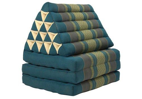Fine Asianliving Thais Kussen Meditatie Driehoek Vloer Ligmat Yoga Uitklapbaar Kapok Blauw XL