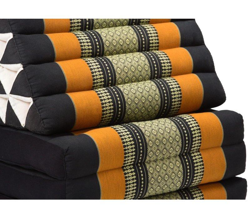 Thai Triangle Cushion Mattress Foldable XL Black Orange