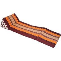 Cuscino Materasso Thailandese Triangolare 56x180cm XL Kapok Rosso Arancione