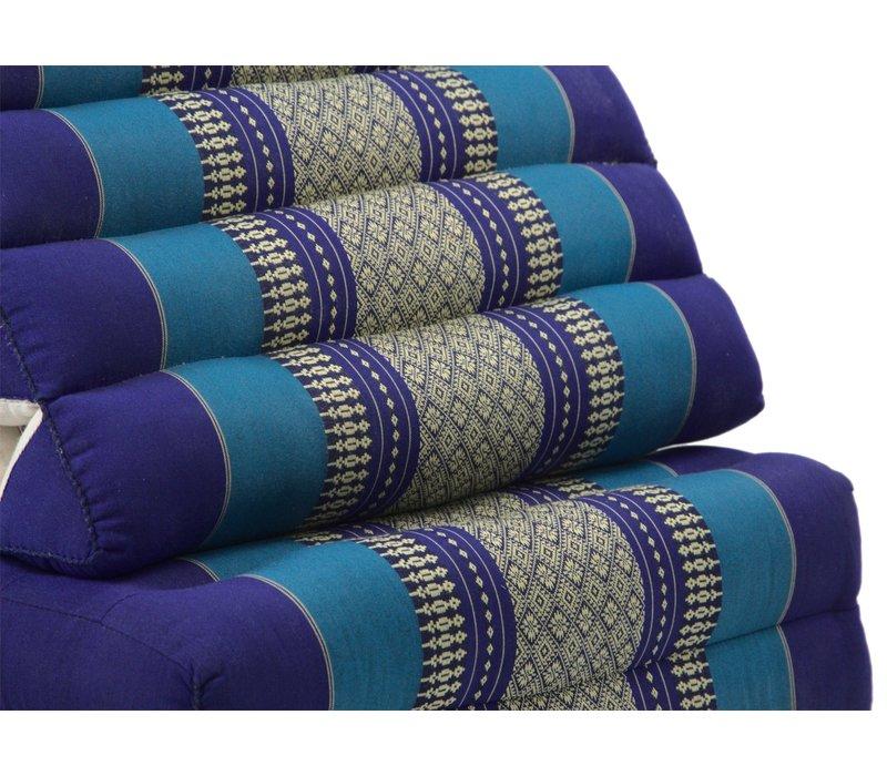 Thais Kussen Meditatie Driehoek Vloer Ligmat Yoga Uitklapbaar Kapok XL Oceaan Blauw