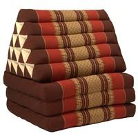 Thai Triangle Cushion Mattress Foldable XL Bordeaux Red