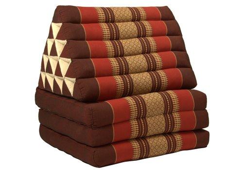 Fine Asianliving Cuscino Materasso Thailandese Triangolare 56x180cm XL Kapok Rosso