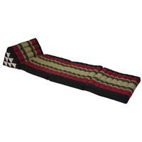 Fine Asianliving Thai Mattress Triangle Cushion Headrest 3-Fold Meditation Mat Lounge Kapok Red