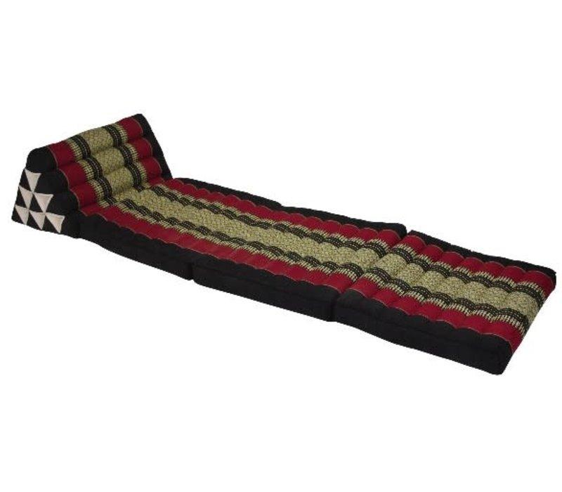 Thai Mattress Triangle Cushion Headrest 3-Fold Meditation Mat Lounge Kapok Red