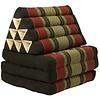 Fine Asianliving Fine Asianliving Thai Mattress Triangle Cushion Headrest 3-Fold Meditation Mat Lounge Kapok Red