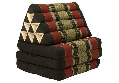Fine Asianliving Coussin Thaïlandais Triangulaire Matelas Kapok 3 Parties 52x180cm Rouge