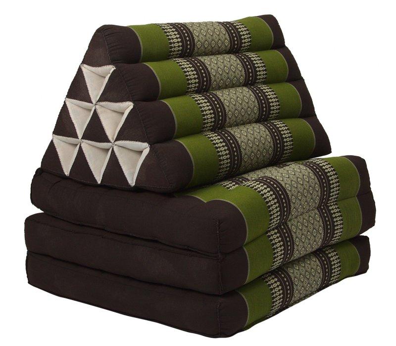 Thais Kussen Meditatie Driehoek Vloer Ligmat Yoga Uitklapbaar Kapok Groen