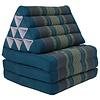 Fine Asianliving Coussin Thaï Triangulaire avec Matelas 3 Parties - 52x180cm - Bleu