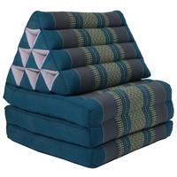 Thais Kussen Meditatie Driehoek Vloer Ligmat Yoga Uitklapbaar Kapok Blauw
