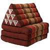Fine Asianliving Fine Asianliving Thai Mattress Triangle Cushion Headrest 3-Fold Meditation Mat Lounge Kapok Bordeaux Red