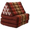 Fine Asianliving Thai Mattress Triangle Cushion Headrest 3-Fold Meditation Mat Lounge Kapok Burgundy Red