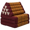 Fine Asianliving Fine Asianliving Thai Mattress Triangle Cushion Headrest 3-Fold Meditation Mat Lounge Kapok Thai Orange
