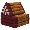 Fine Asianliving Thai Mattress Triangle Cushion Headrest 3-Fold Meditation Mat Lounge Kapok Thai Orange