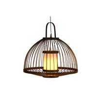 Bamboo Pendant Light Lampshade Handmade - Mabel