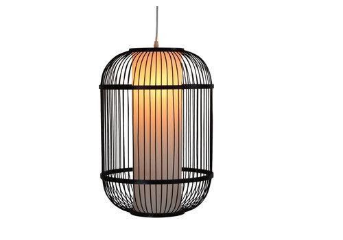 Fine Asianliving Bamboe Hanglamp Zwart Handgemaakt - Dylan