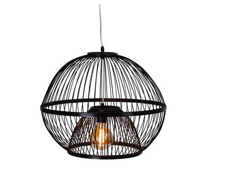 Fine Asianliving Bamboe Hanglamp Handgemaakt Zwart - Lucas