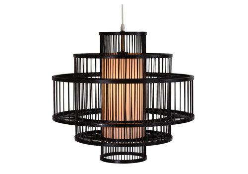 Fine Asianliving Bamboe Hanglamp Handgemaakt Zwart - Leonard