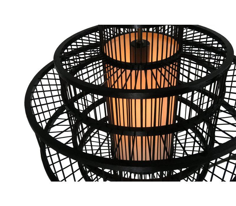 Fine Asianliving Deckenleuchte Pendelleuchte Beleuchtung Bambus Lampenschirm Handgefertigt - Leonard