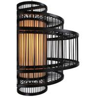 Bamboe Hanglamp Handgemaakt Zwart - Leonard