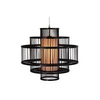 Bamboe Hanglamp Handgemaakt Zwart - Louis