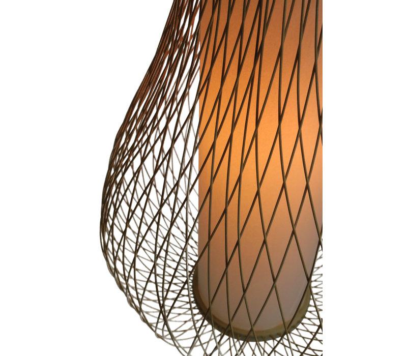 Abat-jour Plafonnier Bambou Fait Main - Ambre