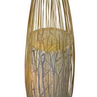 Oriental Floor Standing Lamp Bamboo Handmade - Demi