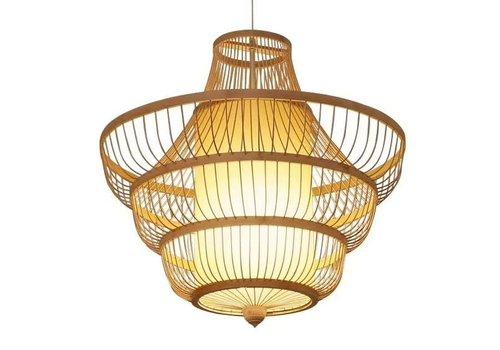 Fine Asianliving Lámpara de Techo Colgante de Bambù Hecha a Mano - Julie