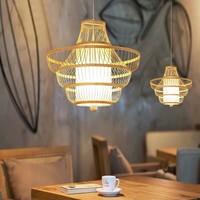 Deckenleuchte Pendelleuchte Beleuchtung Bambus Lampenschirm Handgefertigt - Julie