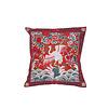 Fine Asianliving Chinesisches Kissenbezug Handbestickt Rot Kranich 40x40cm ohne Füllung