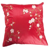 Kussenhoes Sakura Kersenbloesems Rood 45x45cm Zonder Vulling