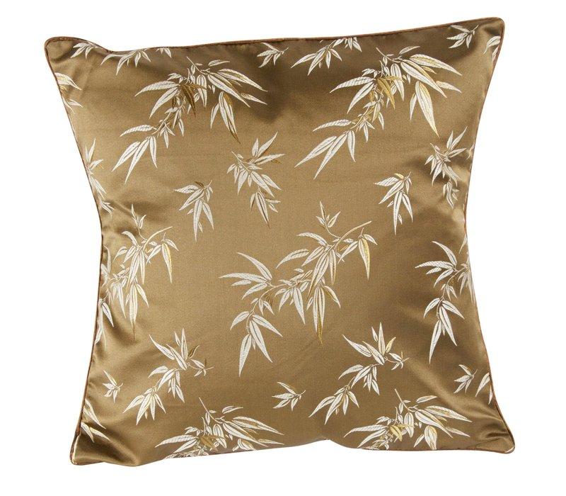 Chinese Cushion Brown Bamboo 40x40cm