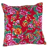 Fine Asianliving Chinese Kussen 40x40cm Traditionele Dongbei Bloemen Rood