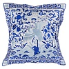 Fine Asianliving Chinese Cushion Hand-embroidered White Crane 40x40cm
