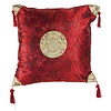 Fine Asianliving Fine Asianliving Chinese Cushion Dark Red Gold Dragons 40x40cm