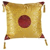 Fine Asianliving Fine Asianliving Chinese Decorative Cushion Yellow Gold Dragons 40x40cm