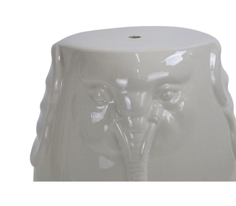 Keramik Hocker Gartenhocker Porzellan A-305