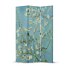 Fine Asianliving Fine Asianliving Biombos Separador de Habitaciones 3 Paneles Lona De Doble Cara Van Gogh Almond Blossoms L120xH180cm