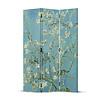 Fine Asianliving Kamerscherm Scheidingswand 3 panelen Van Gogh Amandel Bloesems L120xH180cm
