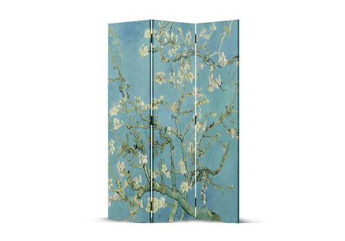 Fine Asianliving Paravent en Toile L120xH180cm 3 Panneaux Van Gogh Fleurs d'Amande