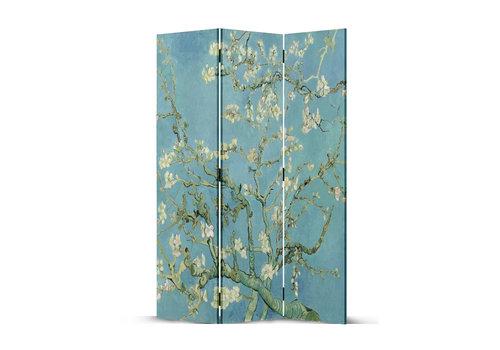 Fine Asianliving Paravento Divisori in Tela L120xA180cm 3 Pannelli Van Gogh Ramo di Mandorlo Fiorito