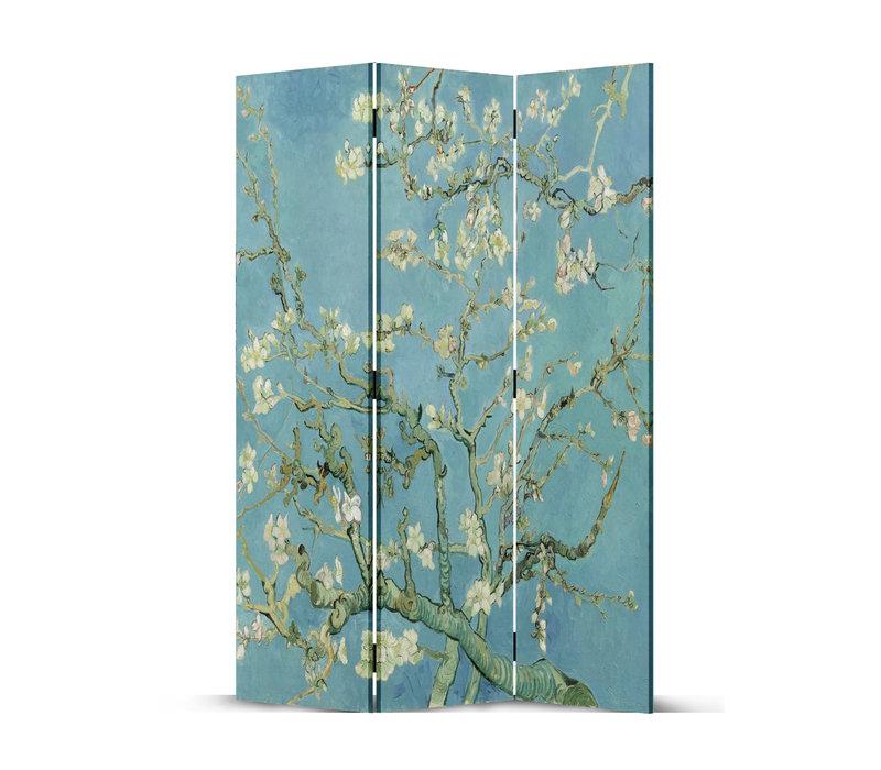 Fine Asianliving Paravento Divisori Tela 3 Pannelli Pieghevole Separatore Van Gogh Almond Blossoms L120xH180cm