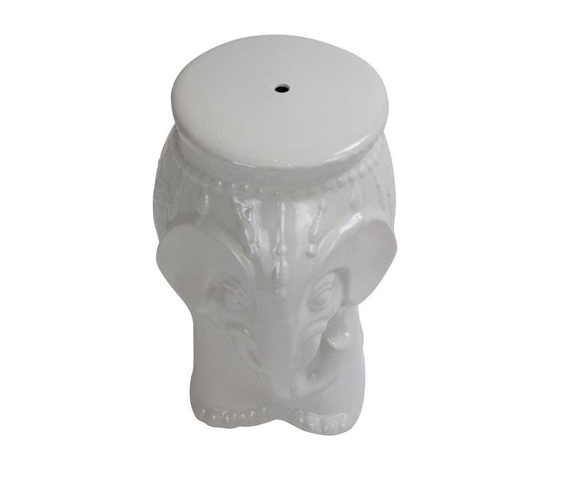 Ceramic Garden Stool D33xH46cm Porcelain Handmade A-133