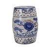Fine Asianliving Ceramic Garden Stool D33xH46cm Porcelain Handmade B-010
