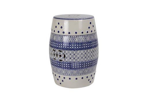 Fine Asianliving Sgabello in Ceramica Cinese B-066