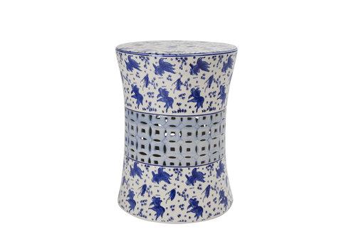 Fine Asianliving Keramik Hocker Gartenhocker Porzellan A-335B